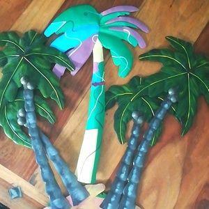 3 Palm Trees Wall Art